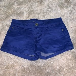 Royal Blue Stretchy Jean Shorts